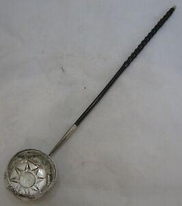 Antique Georgian sterling silver punch ladle, 1758, 41 grams