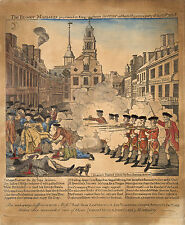 "Images of Americana: Paul Revere's ""Bloody Boston Massacre"": Fine Art Print"