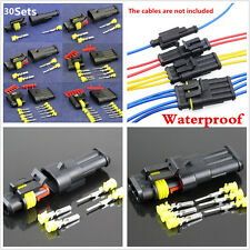 30 Sets Electrical 1 2 3 4 5 6 Pin Sealed Wire Connector Terminal Plug for Motor
