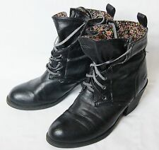 womens black ROCKET DOG ankle boots shoes size UK 6
