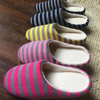 Women Men Soft Couple Indoor Floor Soft Non-slip Slippers Flock House Home Shoes