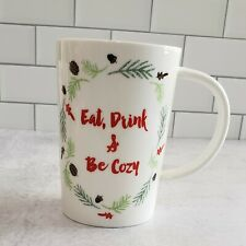 New 🎄 Eat Drink & Be Cozy Mug by Tag 🌿 CHRISTMAS Coffee, Tea, Cocoa
