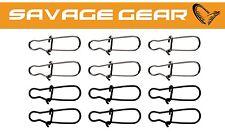 Savage Gear Needle Snap Gr. L 12 Snaps für Kunstköder Karabiner zum Spinnfischen