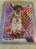 2019-20 Panini Mosaic Coby White RC Rookie NBA Debut Pink Camo Prizm #264