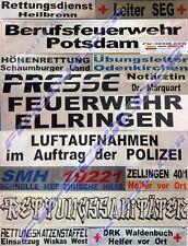 FEUERWEHR Rückenschild silber, reflektierend, 42 x 8 cm, Wunschtext, einzeilig
