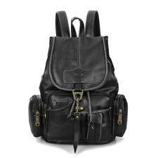 Vintage Women Girls Leather Backpack Shoulder Rucksack School Travel Satchel Bag