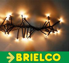 GUIRNALDA CADENA DE LUZ CON 180 LEDS 7 METROS LUZ BLANCA CABLE 5MTS NEGRO BD3736