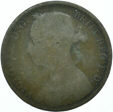 1890 ONE PENNY GB UK QUEEN VICTORIA BEAUTIFUL COLLECTIBLE COIN      #WT31303