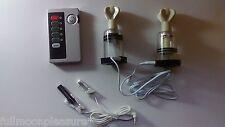 ELECTROSEX Estim decenas 2 conductor Twist ventosas y Unidad Set! vendedor del Reino Unido