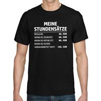 MEINE STUNDENSÄTZE Stundensatz Handwerker Mechaniker Elektriker Spaß Fun T-Shirt