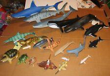 19 x Sharks, Whales, Turtles, & Sea Creatures by Larami, Safari, Schleich, Bully