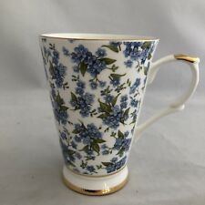 Mug Seville Ceramics Fleur Blue White Flowers Coffee Tea Bone China