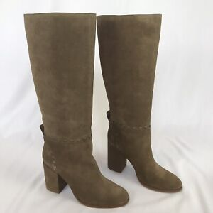 Tory Burch Women's Boots Size 10 Brown Suede Knee High CONTRAIRE Orig $525