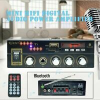 600W Bluetooth Stereo Receiver Integrated Digital Amplifier Audio Home HiFi Amp