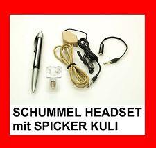 SCHUMMEL HEADSET mit SPICKER KULI - SPION HÖRMUSCHEL - PERFEKT FÜR STUDENTEN !