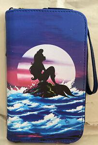 Loungefly Disney Little Mermaid Ariel Silhouette Scene Tech Wallet Wristlet NWT