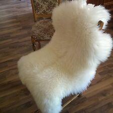 Schaffell 110cm ecru Natur Lammfell, sheep skin, Schafsfell Bettvorleger new