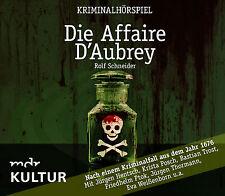 Pièce radiophonique CD Die Affaire D'Aubrey un krimi de Rolf Schneider MDR
