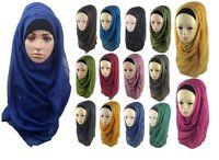 High quality Large Oversize Maxi Plain Viscose Scarf Hijab Wrap Sarong100 Colors