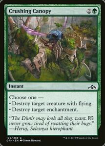 Magic MTG Tradingcard Guilds of Ravnica 2018 Crushing Canopy 126/259