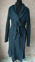 Noa Noa  wrap cardigan navy blue belted wool/mohair small