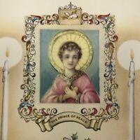 Vintage Art Deco Christmas Greeting Card Prince Of Peace Mid Century Religion