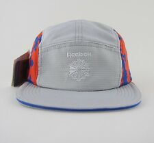 REEBOK CLASSIC HEXALITE 5 FIVE PANEL HAT CAP BNWT OS GREY RUNNING TRAINING NIKE