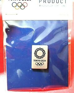 """^^OFFICIAL """"SILVER"""" TOKYO 2020 / 2021 JAPAN OLYMPIC GAMES LOGO PIN ON CARD"""