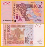 West African States 1000 Francs Niger (H) p-615H 2019 UNC Banknote