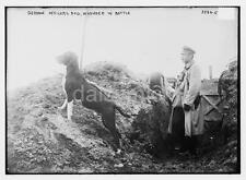 German Army Officers Wounded Dog Trench World War 1 7x5 Inch Reprint Photo