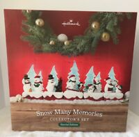 Hallmark 2018 Snow Many Memories SnowMen Special Edition Collector's Set Gift BX