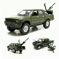 1:32 Toyota Hilux Pickup Truck w/ Anti-tank Gun Model Car Diecast Toy Gift Green