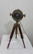 Antique Finish Mini Small Desk Table Lamp Searchlight Vintage Spot Light Tripod