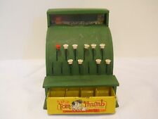 Vintage Tom Thumb Green Steel Tin Cash Register Western Stamping Co Made in USA
