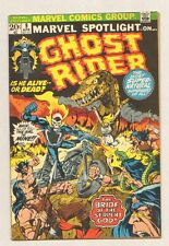 """Marvel Spotlight on Ghost Rider #9 - """"The snakes crawl at night"""" - 1973 (F+) Wh"""