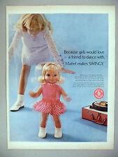 Mattel Toys 3.5-Page PRINT AD 1969 Matt Mason, Injector, Thingmaker, Swingy Doll