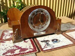 Vintage Old  Garrard   Westminster Chimes Mantle Clock   ( See Video )