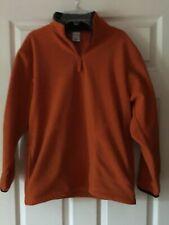 Boy's Old Navy Quarter Zip Fleece Size Xl Orange Pockets