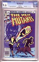 NEW MUTANTS #1 CGC 9.6, 2nd Appearance! Newsstand edition, Marvel Comics 1983