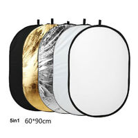 Photography 5 in1 Light Collapsible Portable Photo Reflector 80x120cm DiffuserRD