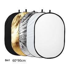 Fotografie 5 in1 Licht zusammenklappbare tragbare Foto Reflektor 80x120cm HN