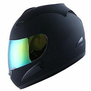 New DOT WOW Motorcycle Full Face Helmet Street Bike MAT BLACK S M L XL