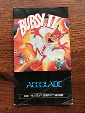 Bubsy II 2 Sega Genesis Game Instruction Manual Only