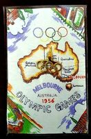 Vintage 1956 Melbourne Olympic Badge Pin Australian Kangaroo Original