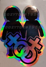 Lesbian Lgbt Gay Pride Oil Slick Funny Bumper Sticker Car Van Rainbow Woman