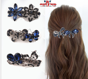 Vintage Womens Hair Barrette Clip French Clips Crystal Barrette Hair slide Grips