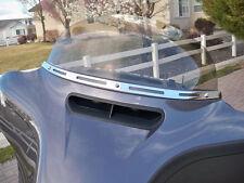 Chrome 4 Slot Windshield Trim Batwing Fairing Harley Electra Street Glide 14-16