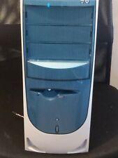 mini ATX Destkop PC Behuizing wit met blauw nieuw incl.ass