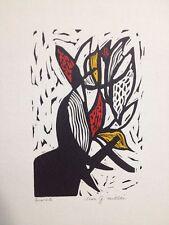 "Leon Gordon Miller Jewish Ohio Artist Modernist 1960s Serigraph ""Isaiah"" Bible!"