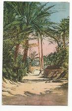 Tunisia - Un Pont dans l'Oasis - Vintage Postcard